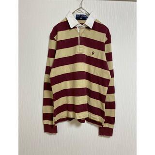 ポロラルフローレン(POLO RALPH LAUREN)のラルフローレン ポロシャツ ラガーシャツ ボーダー Lサイズ(Tシャツ/カットソー(七分/長袖))