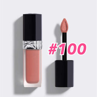 Dior - 人気☆ ディオール ルージュ ディオールフォーエヴァーリキッド #100