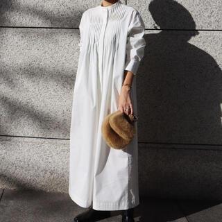 DEUXIEME CLASSE - machatt マチャット ピンタックシャツドレス(ホワイト)