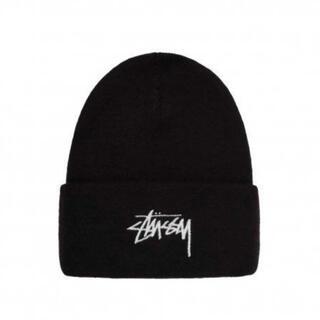 ステューシー(STUSSY)のstussy/NIKE ニット帽 Logo BLACK 黒 ニットキャップ(ニット帽/ビーニー)