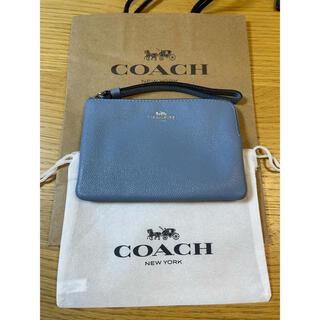 COACH - 【ショップ袋・保存袋付き】COACH コーチ リストレット ポーチ 財布小銭入れ