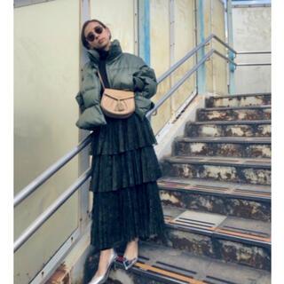 アメリヴィンテージ(Ameri VINTAGE)の【新品・未使用】定価1万3000円 チュールプリーツスカート(ロングスカート)