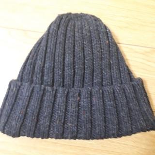 ムジルシリョウヒン(MUJI (無印良品))の無印良品 ちくちくを抑えたリブ編みワッチ(ニット帽/ビーニー)