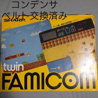 ファミリーコンピュータ(ファミリーコンピュータ)のツインファミコン 箱付き本体セット(家庭用ゲーム機本体)