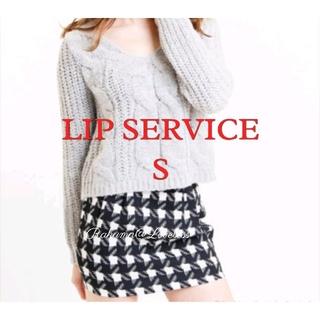 リップサービス(LIP SERVICE)のリップサービス 千鳥格子スカート S(ミニスカート)