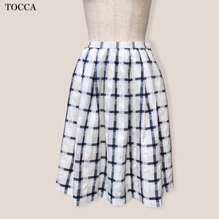 トッカ(TOCCA)の【TOCCA】スカート  チェック トッカ(ひざ丈スカート)
