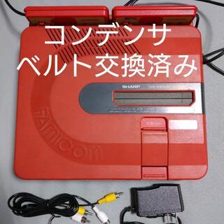 ファミリーコンピュータ(ファミリーコンピュータ)のツインファミコン 本体セット レッド2(家庭用ゲーム機本体)