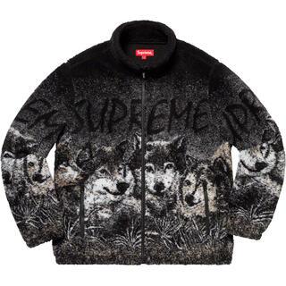 Supreme - Supreme Wolf Fleece Jacket L 黒