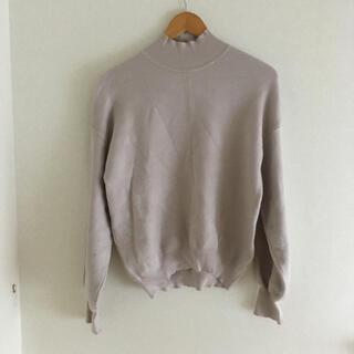 GU - 【GU ジーユー】スウェットライク ハイネック セーター