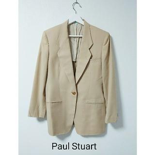 ポールスチュアート(Paul Stuart)のPaul Stuart  ベージュ チェック ジャケット(テーラードジャケット)