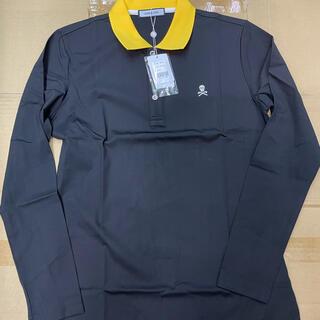 マークアンドロナ(MARK&LONA)の新品未使用  MARK&LONA(マーク&ロナ) 長袖ポロシャツ Mブラック(ウエア)