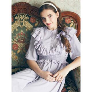 Maison de FLEUR - 新品未使用タグ付き♡定価17490円♡メゾンドフルール ラッフル切り替えドレス