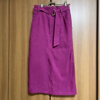 ロイヤルパーティー(ROYAL PARTY)のRoomy's ミディー丈 ベルト付きタイトスカート(ひざ丈スカート)