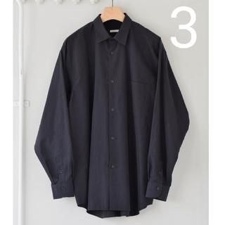 COMOLI - 新品■21AW COMOLI シャツ 新型 3 ネイビー 紺