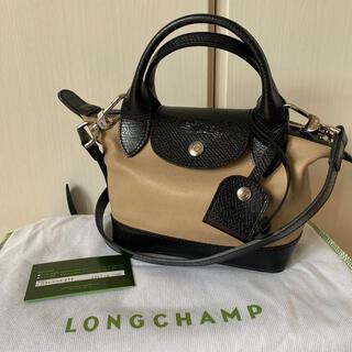 ロンシャン(LONGCHAMP)のLongchamp ル プリアージュ キュイール トップハンドルバッグ XS(ショルダーバッグ)
