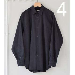 COMOLI - 新品■21AW COMOLI シャツ 新型 4  ネイビー 紺