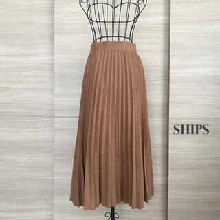 SHIPS - SHIPS  シップス フェイクスエードプリーツスカート