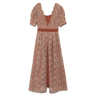 リリーブラウン(Lily Brown)のLily brown♡レイヤード 刺繍 チュール ワンピース(ロングワンピース/マキシワンピース)