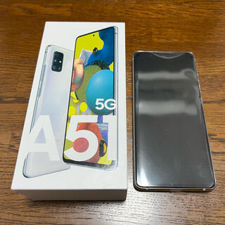 ギャラクシー(Galaxy)の【付属品なし】Galaxy A51 5G White 128GB 未使用品(スマートフォン本体)