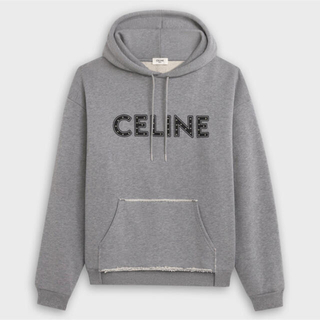 セリーヌ(celine)のCELINE スタッズ付き ルーズスウェットシャツ(パーカー)