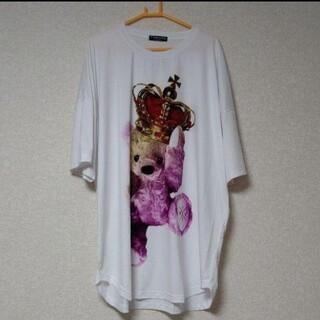 ミルクボーイ(MILKBOY)の【トラヴァストーキョー】クラウンベア ラウンドビックシャツ(Tシャツ(半袖/袖なし))