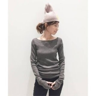 L'Appartement DEUXIEME CLASSE - L'Appartement 指ぬきボートネック RIB KNIT