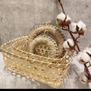 MUJI (無印良品) - 【大人気!】佐渡の藁 鍋敷き&かごめ籠