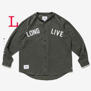 W)taps - LEAGUE /  LS / COTTON. FLANNEL ベースボールシャツ