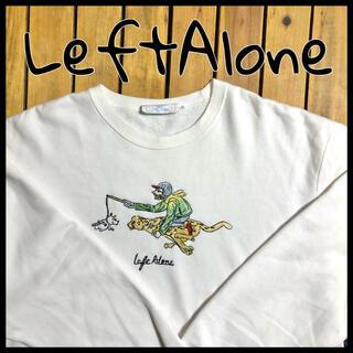 BEAMS - 【LeftAlone】レフトアローン スウェット トレーナー 刺繍 白