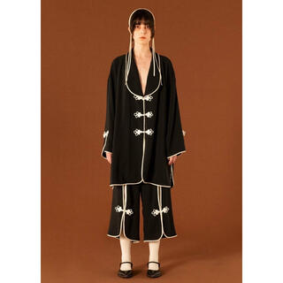 mame - FUMIE=TANAKA 21AW piping gown(BLACK/2)