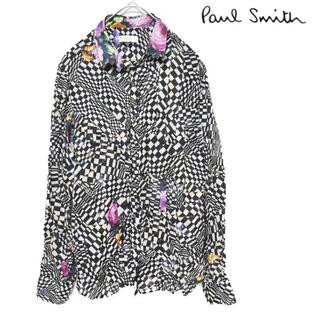 ポールスミス(Paul Smith)のPaul Smith ポールスミス 総柄 長袖シャツ ブラウス レディース 38(シャツ/ブラウス(長袖/七分))