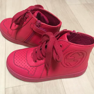 Gucci - GUCCI グッチ キッズ スニーカー 靴 革素材 ピンク