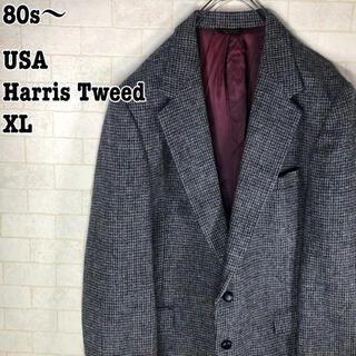 ハリスツイード(Harris Tweed)のUSA製 80s レトロ アメトラ ヴィンテージ ハリスツイード ジャケット(テーラードジャケット)