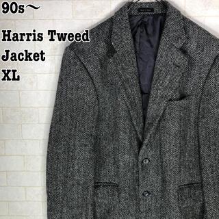 ハリスツイード(Harris Tweed)のレトロ トラッド ブリティッシュ ヘリンボーン ハリスツイード ジャケット(テーラードジャケット)