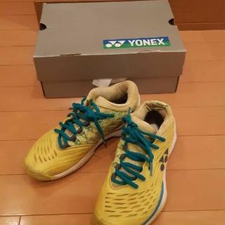 ヨネックス(YONEX)のヨネックスYONEXテニスシューズフュージョンレブ2 ブライトイエロー23.5(シューズ)