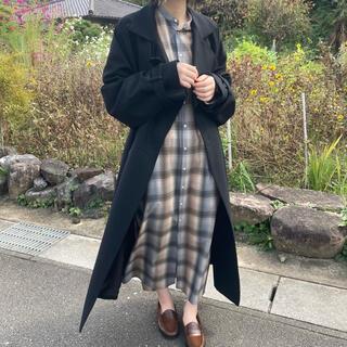 ハイク(HYKE)のhyke medical coat 20aw black (ロングコート)