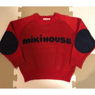 ミキハウス(mikihouse)のミキハウス ロゴ入り長袖ニット セーター 100(ニット)