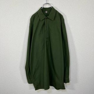 【人気】スウェーデン軍 グランパシャツ スリーピングシャツ プルオーバーシャツ