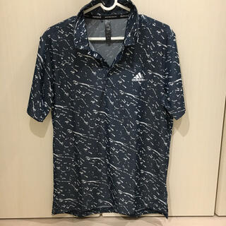 adidas - adidas アディダス プライムブルー 半袖ジャガードシャツ Mサイズ