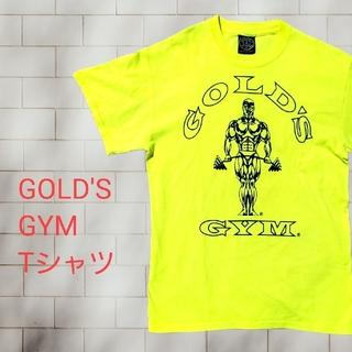 [古着]GOLD'S GYM Tシャツ 蛍光色 黄色 M