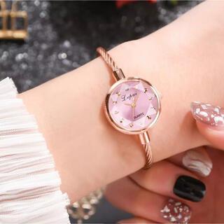【おススメ】レディース 腕時計 クォーツ ブレスレット型 ピンク