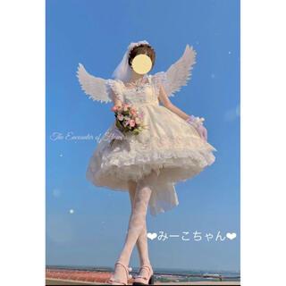 ミルク(MILK)の出逢い JSKフルセット 甘ロリ しゅくれどーる 花嫁 姫ロリ ロリィタ(ミニワンピース)