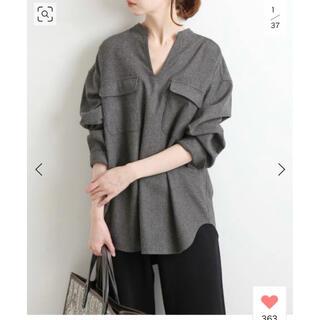 IENA - イエナ IENA ウールスキッパーシャツ グレー