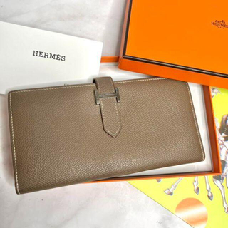 Hermes - HERMES エルメス 美品 ベアンスフレ ヴォー エプソン 長財布 マチあり