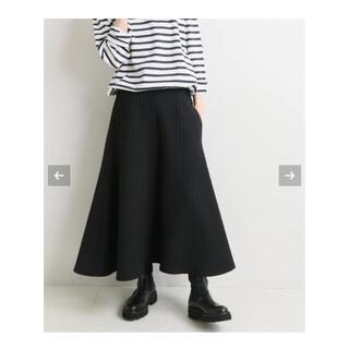 IENA - IENA キルティングジャガードスカート ブラック 34