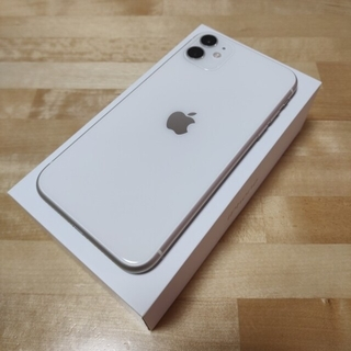 アイフォーン(iPhone)のApple iPhone 11 ホワイト 64GB SIMフリー(スマートフォン本体)