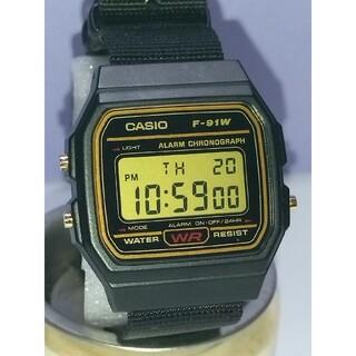 CASIO - 【NATOタイプベルト】チプカシ カシオ腕時計 F-91WG-9