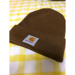 カーハート(carhartt)のCarhartt ニット帽 ブラウン(ニット帽/ビーニー)