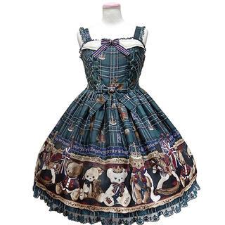 Angelic Pretty - British Bearジャンパースカート