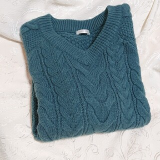 HONEYS - あみあみウールニットセーター深緑色